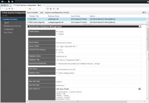 Domino モバイルソリューション - 同期データベース設定画面