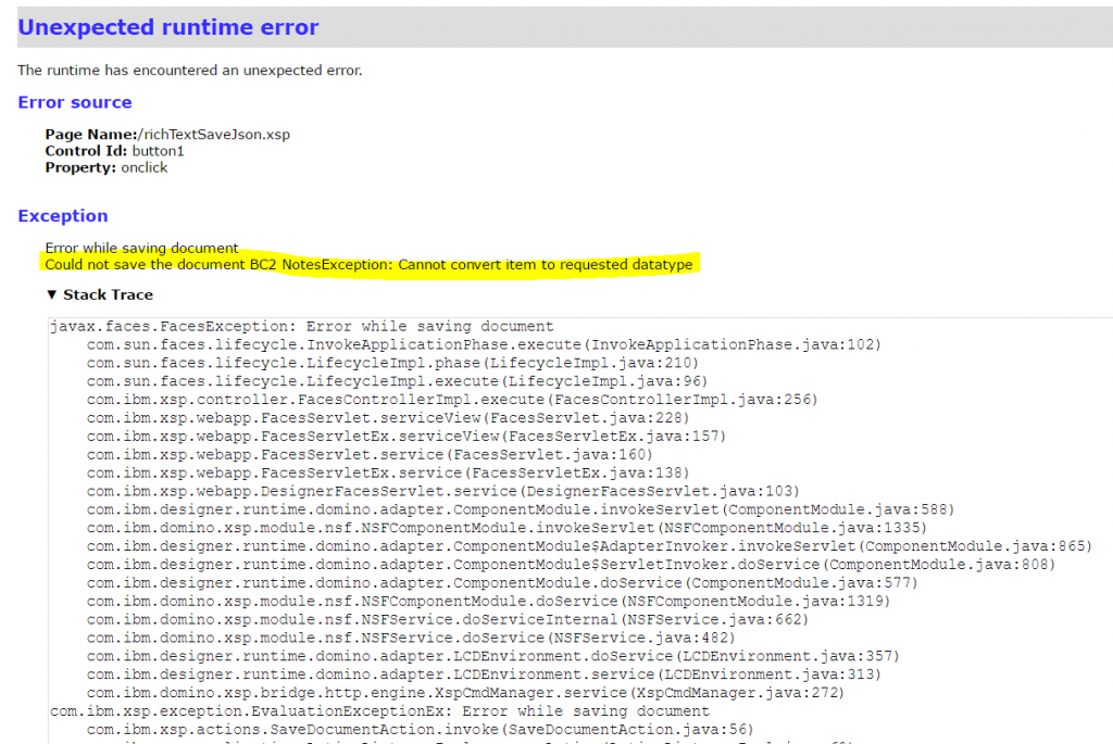 xpage inputTextArea Save32KBOverData